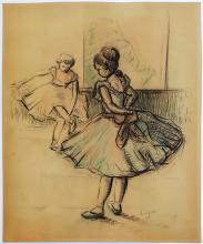 Edgar DEGAS mixed media gouache on paper signed painting