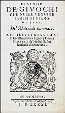 [Games and Tarots] Bargagli, Giuochi, 1581