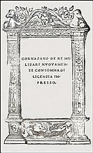 [War, Military Art] Cornazzano, 1520