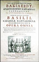 [Saints' Works] St. Basil of Caesarea, Opera, 3 vols