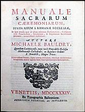 [Liturgy, Music] Bauldry, Manuale, 1734
