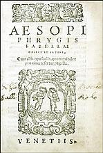 [Greek Literature, Fables] Aesop, Fabellae, 1561