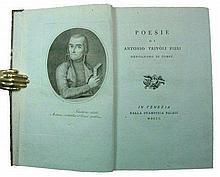 [Poetry, blue paper] Pieri, Poesie, 1800, unique copy