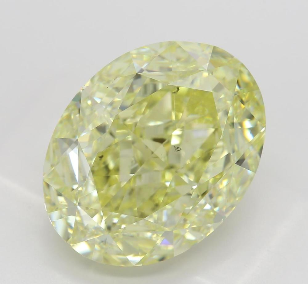 9.05 ct, Natural Fancy Yellow Even Color, SI1, Oval cut Diamond (GIA Graded), Unmounted, Appraised Value: $256,100