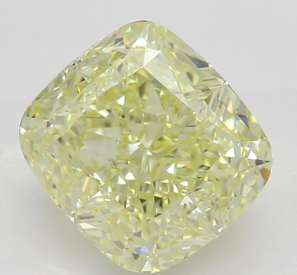2.53 ct, Natural Fancy Light Yellow Even Color, IF, Cushion cut Diamond (GIA Graded), Unmounted, Appraised Value: $38,400
