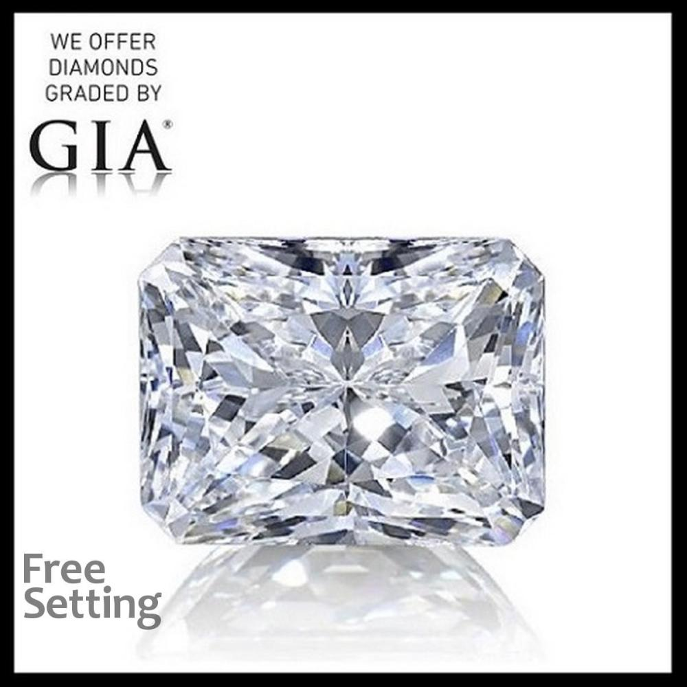 2.01 ct, D/VS2, Radiant cut Diamond, 64% off Rapaport List Price (GIA Graded), Unmounted. Appraised Value: $77,800