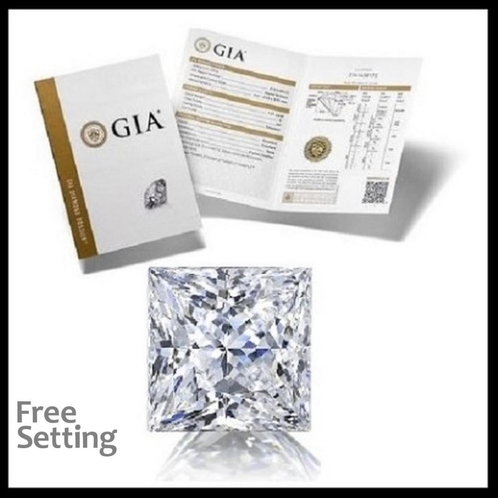2.01 ct, E/VVS2, Princess cut Diamond, 47% off Rapaport List Price (GIA Graded), Unmounted. Appraised Value: $87,900