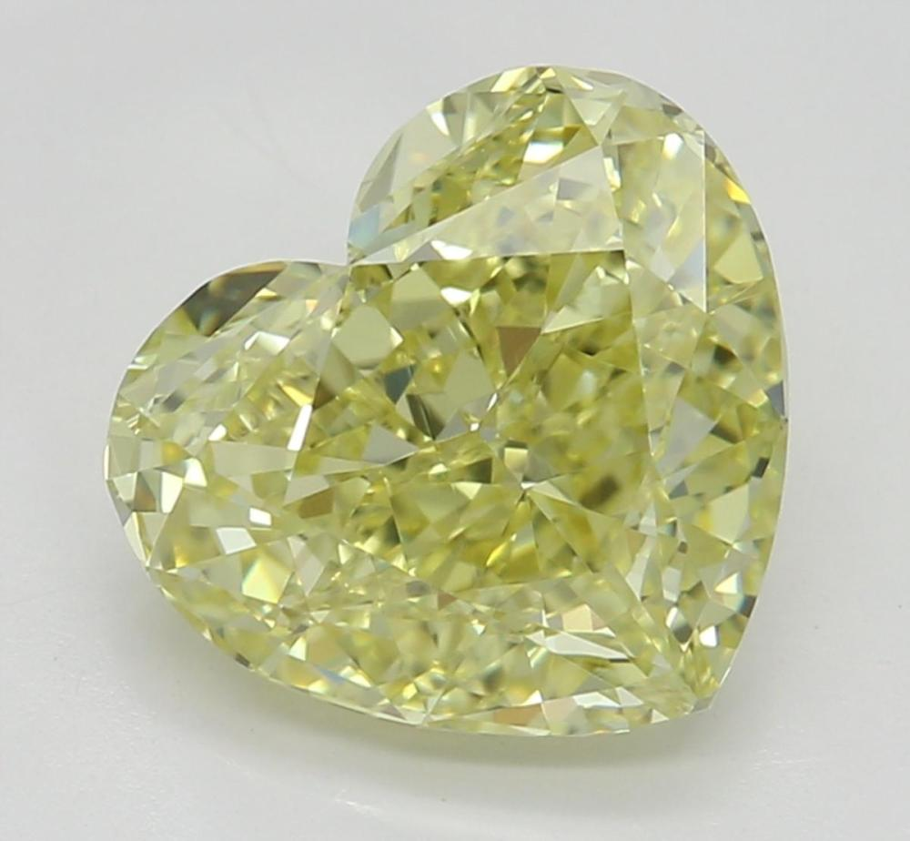 1.60 ct, Natural Fancy Yellow Even Color, VS2, Heart cut Diamond (GIA Graded), Unmounted, Appraised Value: $15,000