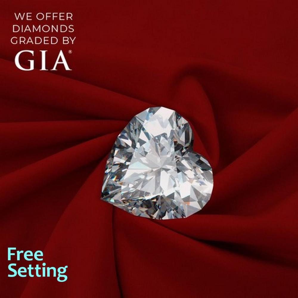 1.10 ct, E/VS1, Heart cut Diamond, 40% off Rapaport List Price (GIA Graded), Unmounted. Appraised Value: $16,500