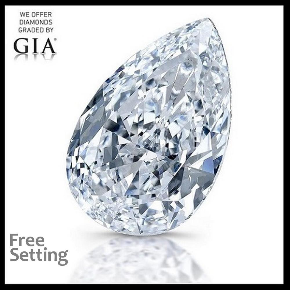 3.22 ct, F/VVS2, Pear cut Diamond, 38% off Rapaport List Price (GIA Graded), Unmounted. Appraised Value: $255,900