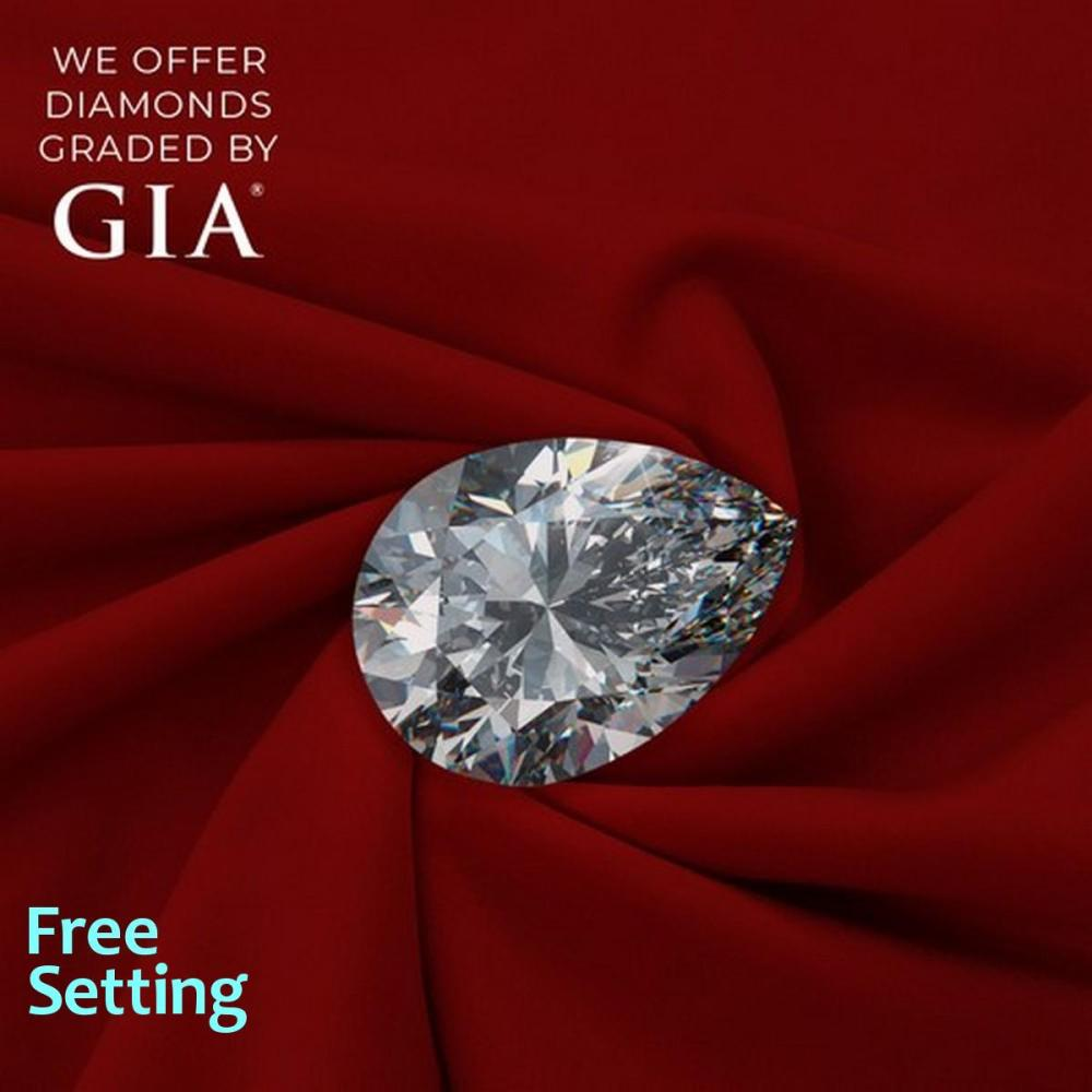1.50 ct, E/VVS1, Pear cut Diamond, 48% off Rapaport List Price (GIA Graded), Unmounted. Appraised Value: $49,500