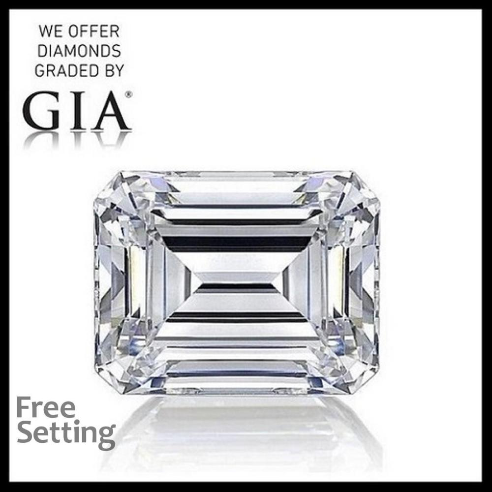 3.01 ct, G/VVS2, Emerald cut Diamond, 53% off Rapaport List Price (GIA Graded), Unmounted. Appraised Value: $212,200