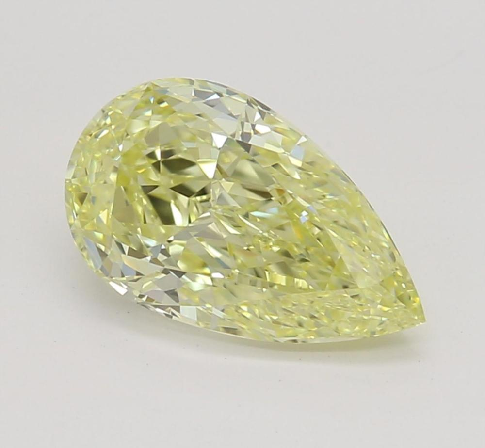 1.00 ct, Natural Fancy Yellow Even Color, VVS1, Pear cut Diamond (GIA Graded), Unmounted, Appraised Value: $12,700