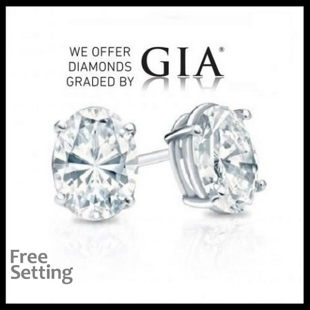 2.02 carat diamond pair Oval cut Diamond GIA Graded 1) 1.01 ct, Color D, VS1 2) 1.01 ct, Color D, VS1. Unmounted. Appraised Value: $32,200
