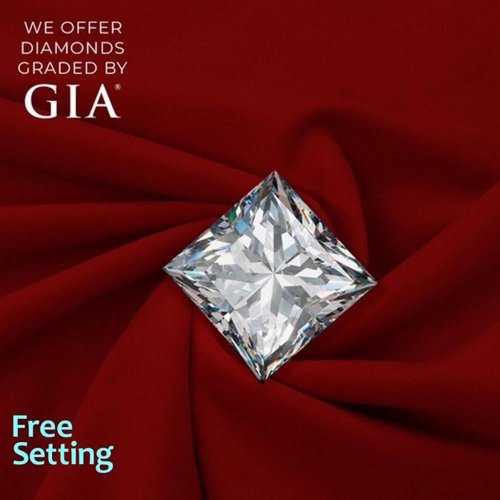1.01 ct, F/VVS2, Princess cut Diamond, 53% off Rapaport List Price (GIA Graded), Unmounted. Appraised Value: $15,100