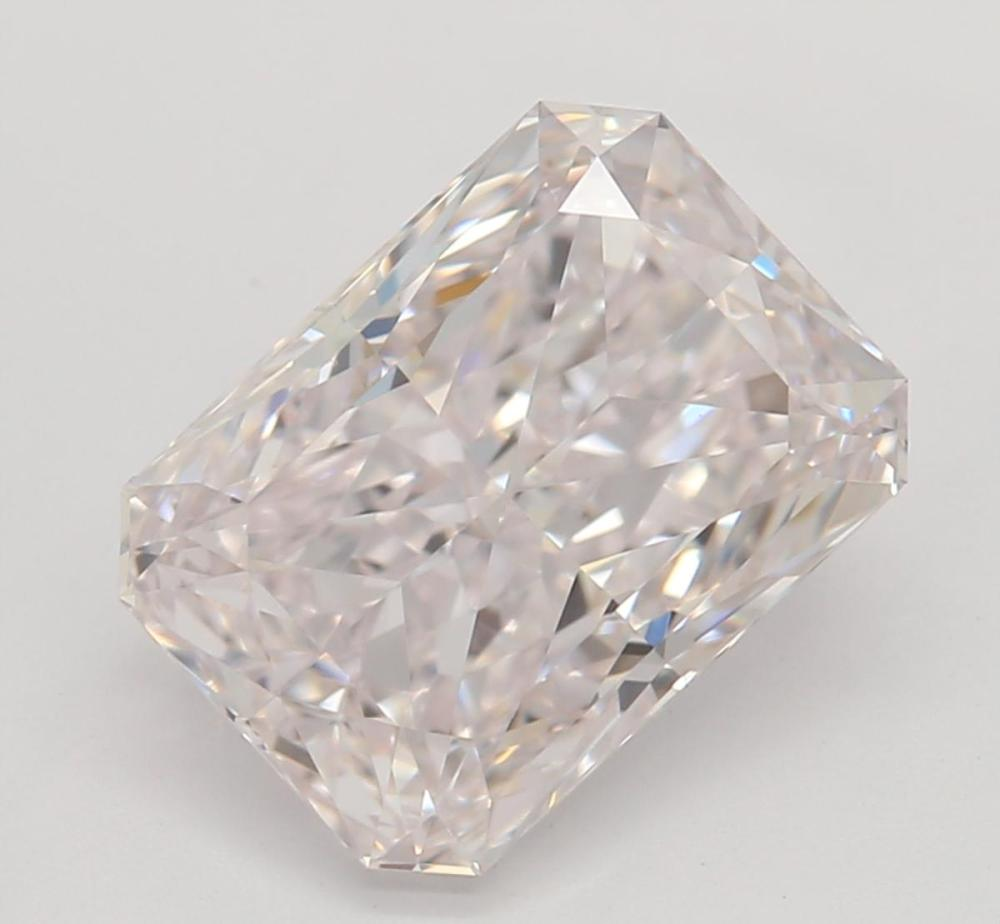 1.61 ct, Natural Very Light Pink Color, IF, Radiant cut Diamond (GIA Graded), Unmounted, Appraised Value: $144,900