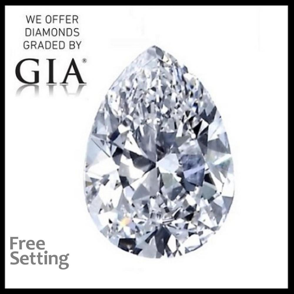 5.38 ct, D/VS1, Pear cut Diamond, 44% off Rapaport List Price (GIA Graded), Unmounted. Appraised Value: $1,428,300