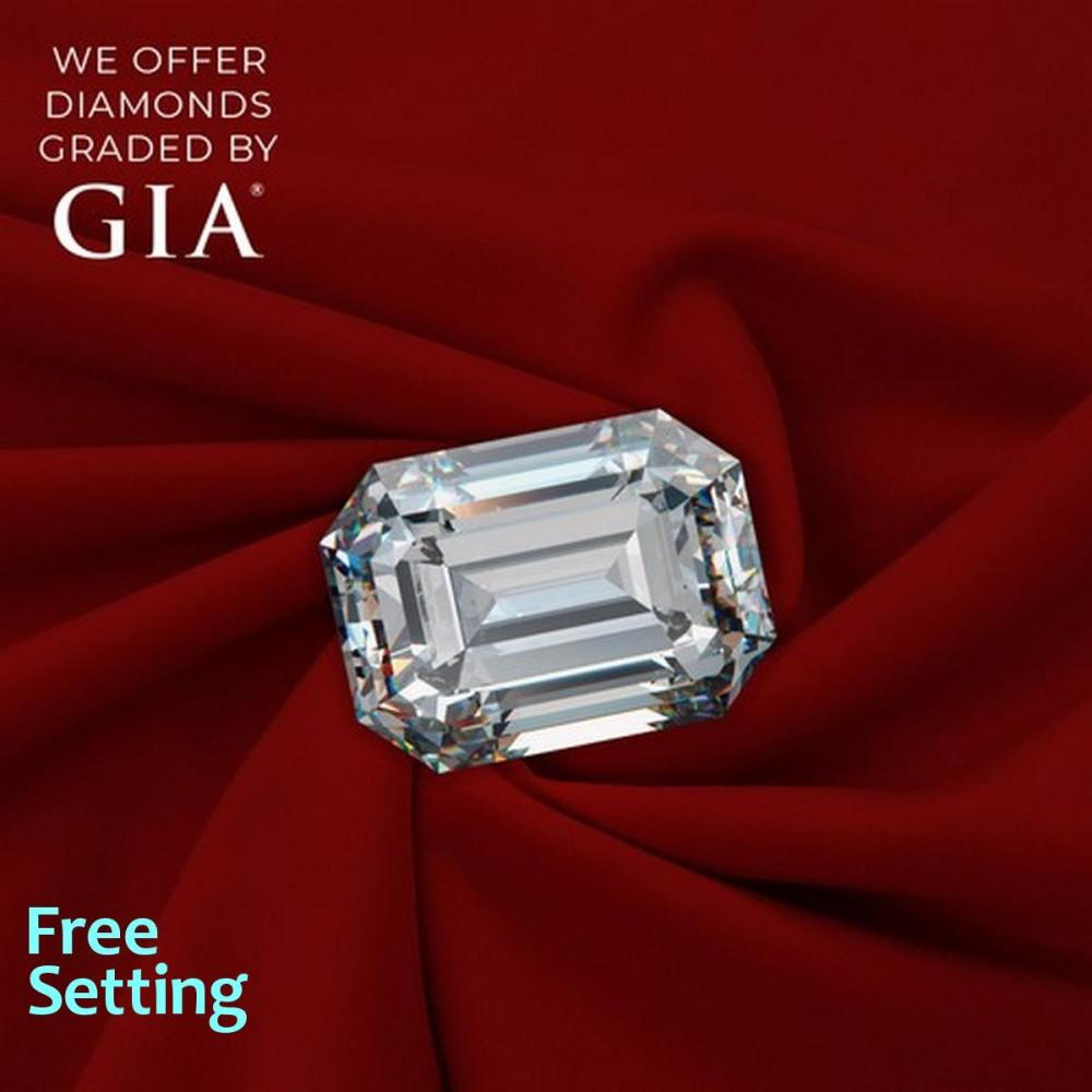 1.51 ct, G/VVS1, Emerald cut Diamond, 52% off Rapaport List Price (GIA Graded), Unmounted. Appraised Value: $29,200