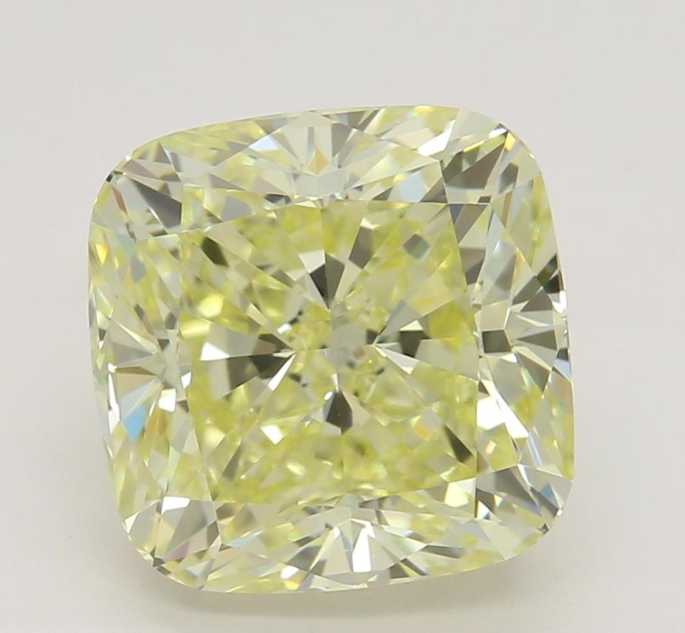 3.02 ct, Natural Fancy Light Yellow Even Color, VVS1, Cushion cut Diamond (GIA Graded), Unmounted, Appraised Value: $39,800