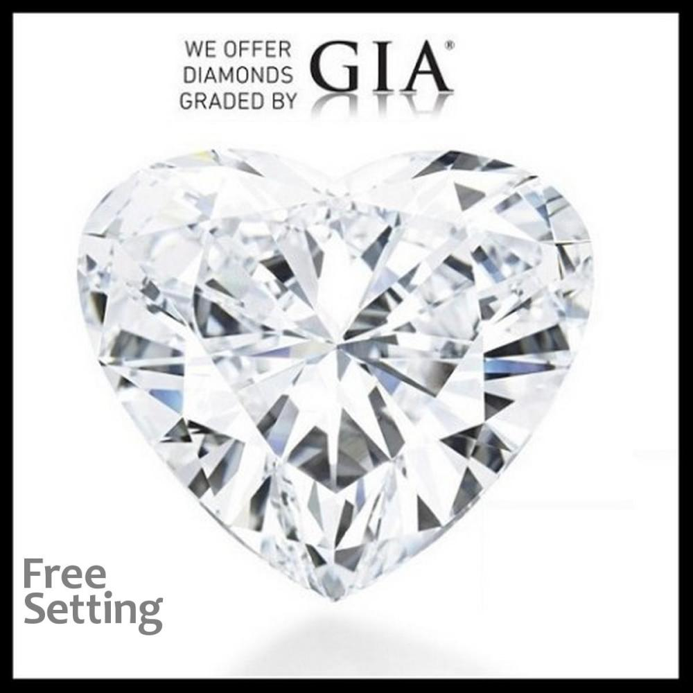 3.01 ct, E/VVS1, Heart cut Diamond, 39% off Rapaport List Price (GIA Graded), Unmounted. Appraised Value: $352,900