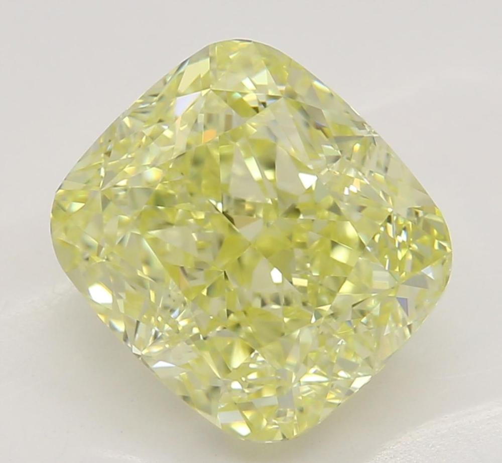 2.72 ct, Natural Fancy Yellow Even Color, VVS2, Cushion cut Diamond (GIA Graded), Unmounted, Appraised Value: $40,600