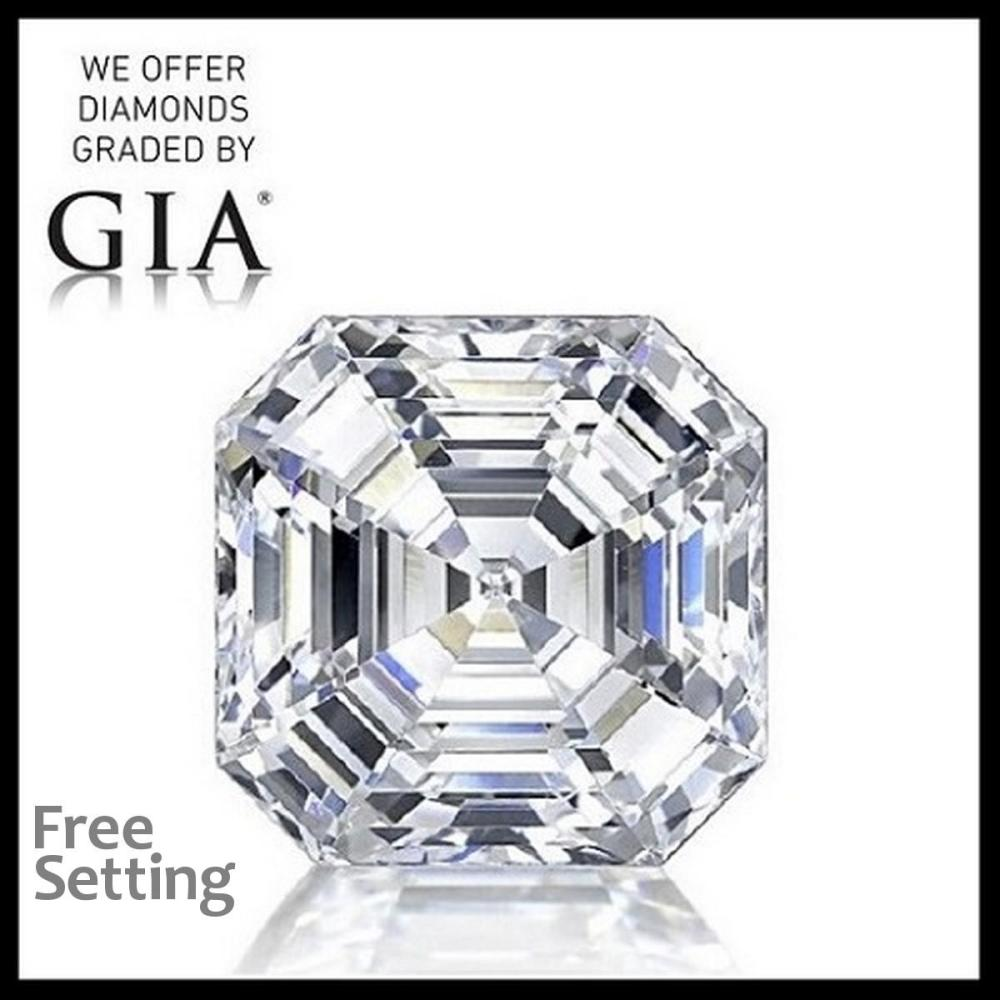 3.10 ct, F/VS1, Square Emerald cut Diamond, 52% off Rapaport List Price (GIA Graded), Unmounted. Appraised Value: $227,800