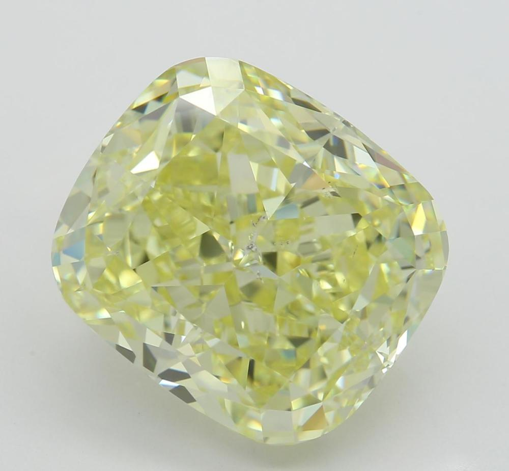 10.04 ct, Natural Fancy Yellow Even Color, SI2, Cushion cut Diamond (GIA Graded), Unmounted, Appraised Value: $301,200