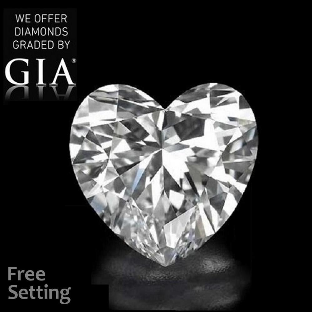 2.02 ct, D/VVS2, Heart cut Diamond, 53% off Rapaport List Price (GIA Graded), Unmounted. Appraised Value: $121,200