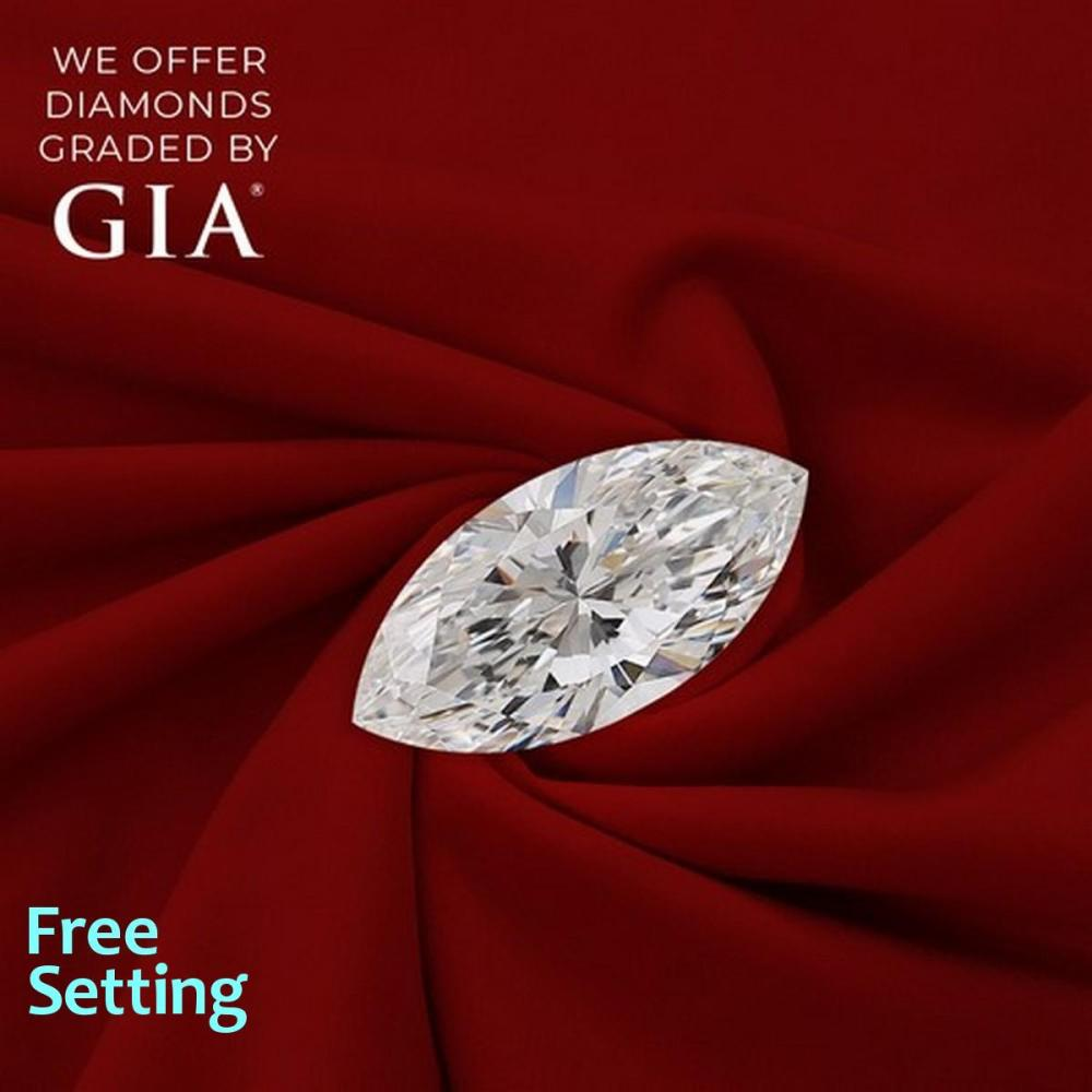 1.08 ct, E/VS2, Marquise cut Diamond, 40% off Rapaport List Price (GIA Graded), Unmounted. Appraised Value: $15,100