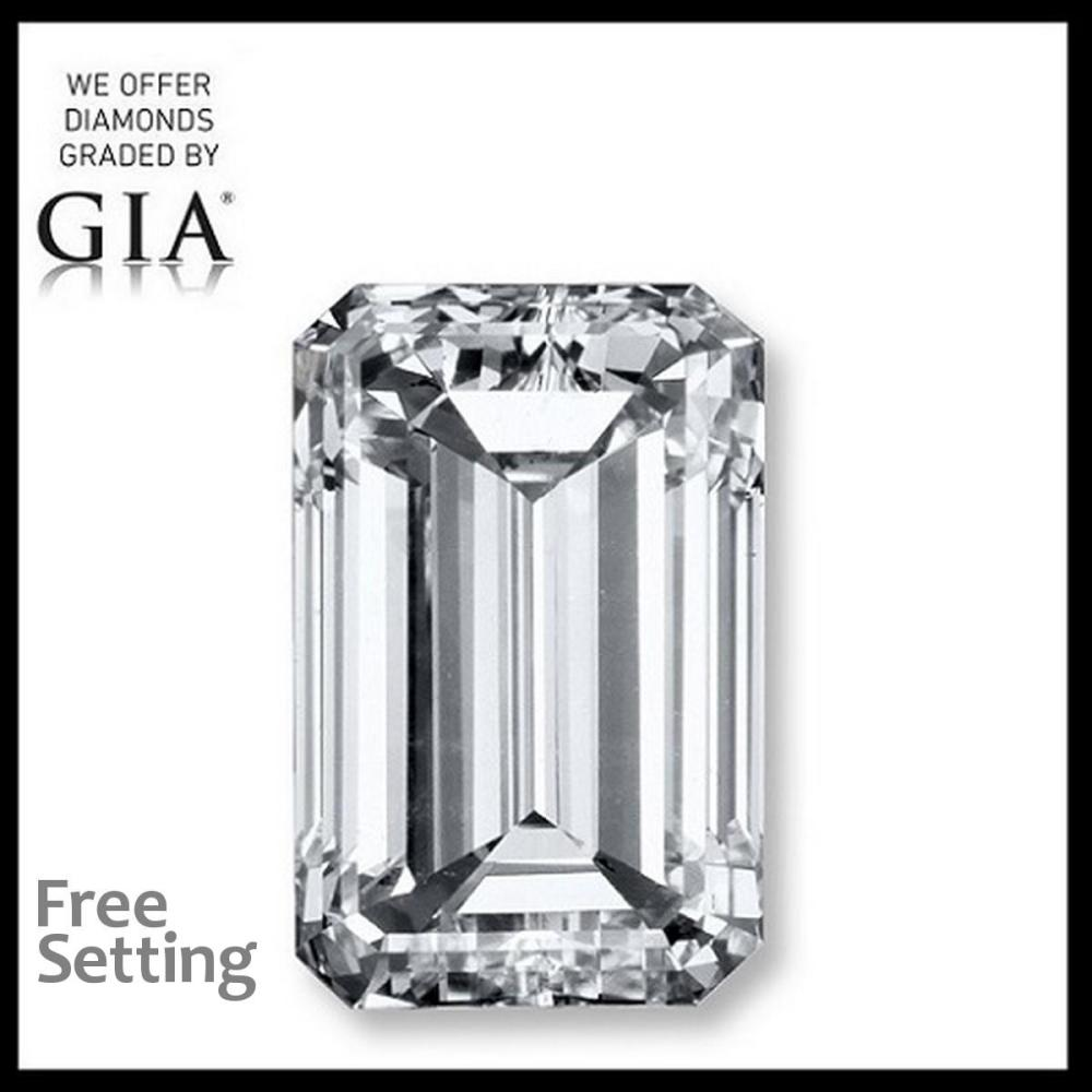 3.00 ct, H/VVS1, Emerald cut Diamond, 68% off Rapaport List Price (GIA Graded), Unmounted. Appraised Value: $189,000