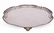 A SILVER HEXAGONAL SALVER