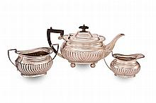 A THREE PIECE CONTINENTAL SILVER TEA & COFFEE SERVICE