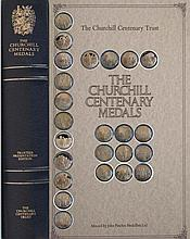 THE CHURCHILL CENTENARY MEDALS TRUSTEES PRESENTATION EDITION 24 SILVER GILT MEDALS IN PRESENTATION FOLDER
