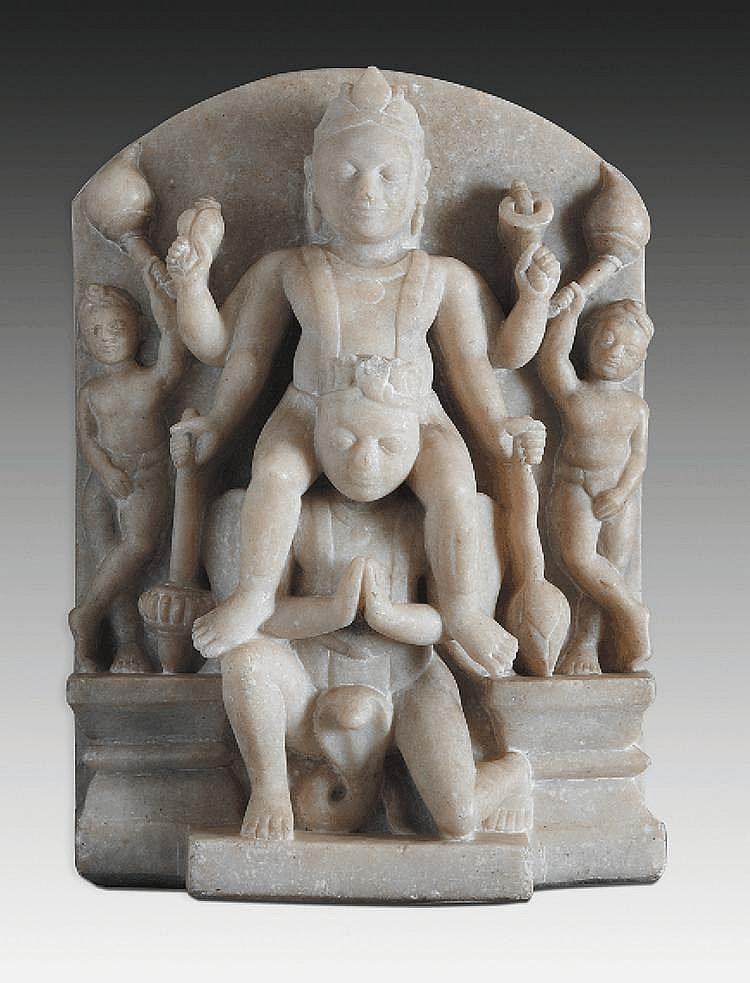 A marble statue, probably from central India