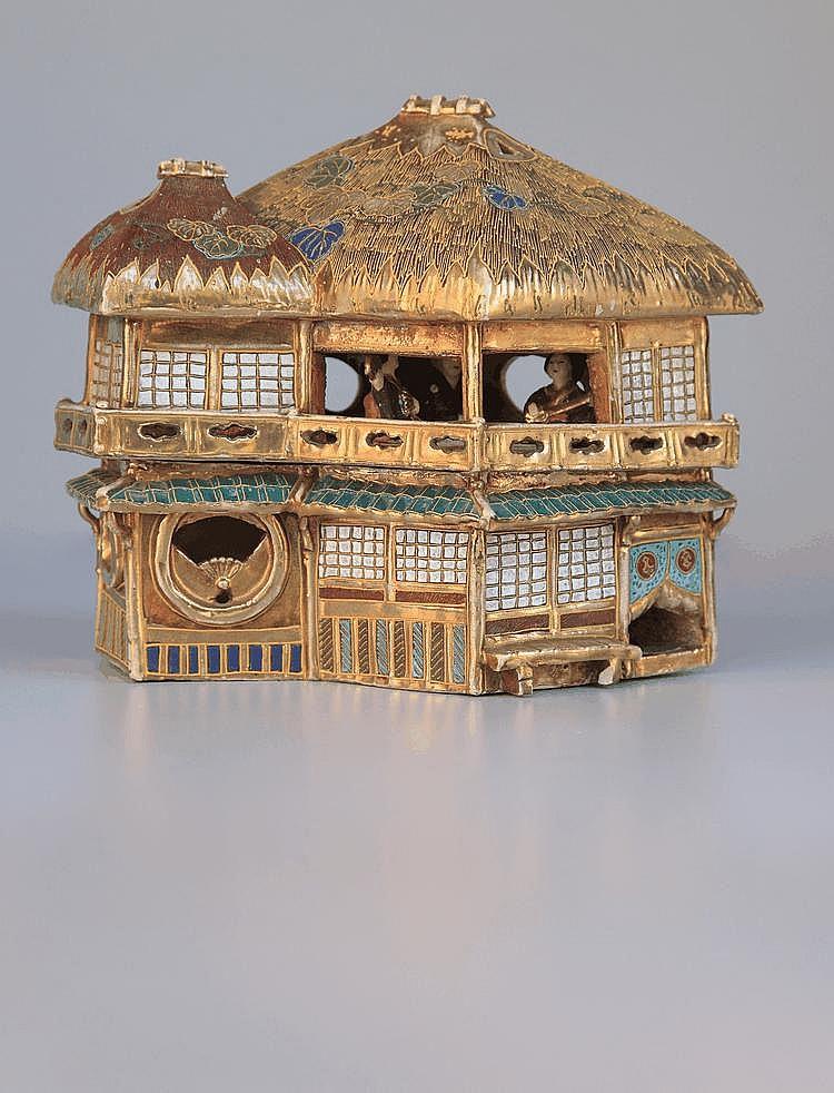 A Royal Satsuma -Ware cottage