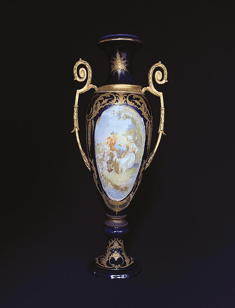 A Sevres mantel vase