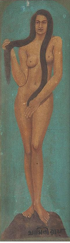 Jamini Roy (1887 - 1972), Untitled (Standing Nude)