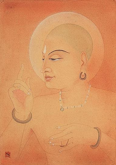 Nandalal Bose (1882-1966), Untitled (Portrait of Mahaprabhu Sree Chaitanyadev)