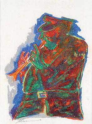 Krishen Khanna (b. 1925), Untitled (Bandwala series)