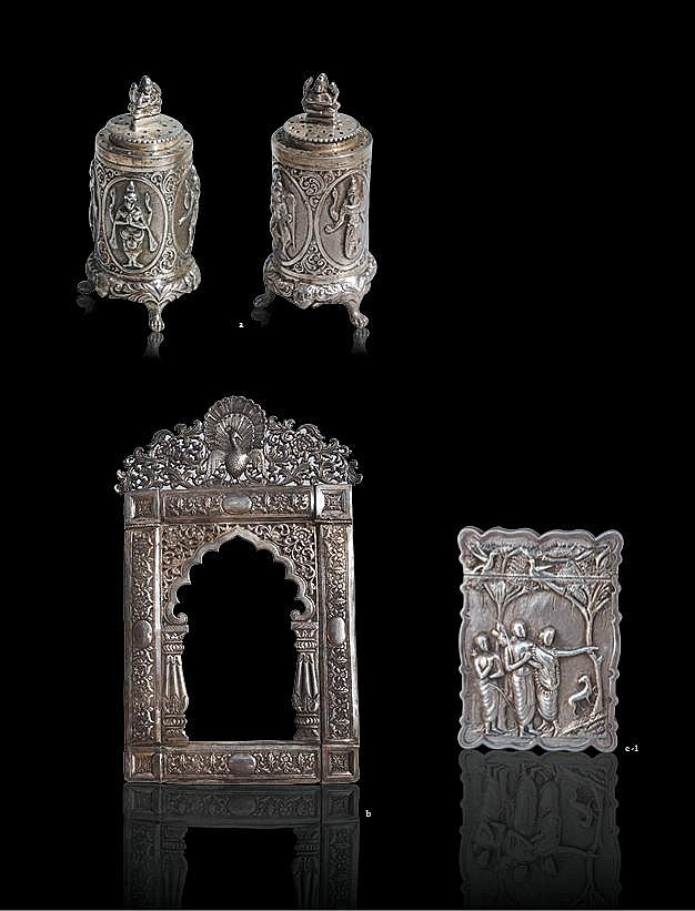 A fine collection of rare Indian silver works