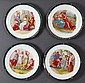 A SET OF FOUR VIENNA-STYLE CABINET PLATES,