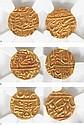 A set of three Jodhpur Mohurs (gold coins)