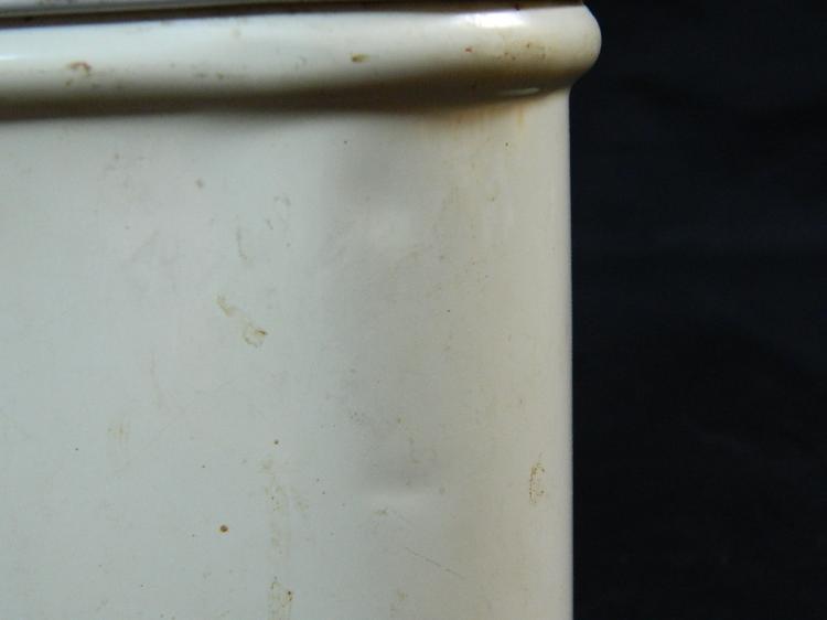 "Lot 3: 1920's 8"" Flower Painted Metal Bread Box"