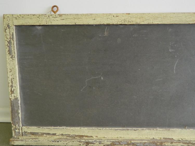 Lot 5: Antique Meat Market Sign Chalk Board from Gary, IN