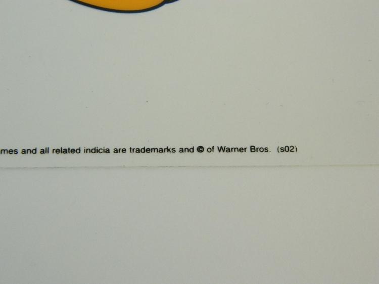 Lot 15: Warner Bros.Tweetie II & Sylvester 2002 Sericel