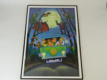 Lot 19: ScoobyDoo Long & Haunted Road 2004 Seriolithograph