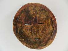 Lot 26: Baluba Ghana Carved Wooden Mask w/ Brass Color