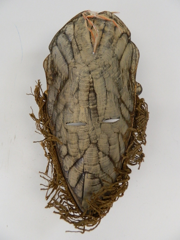 Lot 27: Woman African Tribal Mask - Copper with Lizard