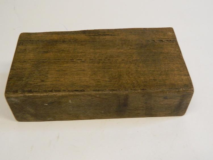 Lot 39: Antique Wood Handmade Sugar Mold Candle Holder