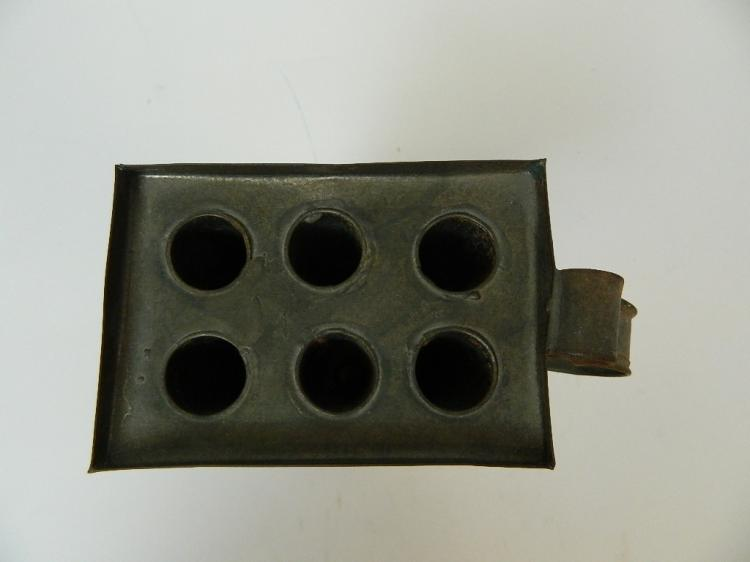 """Lot 42: 11"""" Antique Copper 6 Candle Making Mold"""